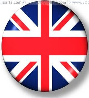button with the colours of the united kingdom - Dessin Anglais
